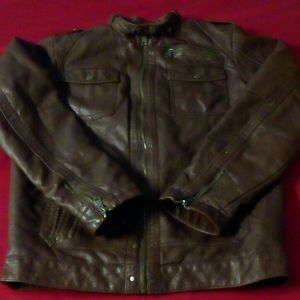 Brown Leather ministry of fashion jacket